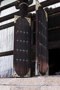 Huge entry doors.
