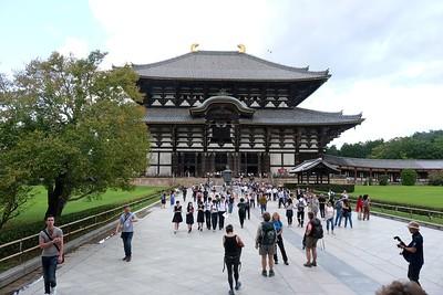 The Great Buddha Hall at Todai-ji Temple - Nara, Japan.