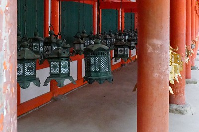 Each lantern shows the deity the lantern is donated to, or the name of the individual that donated the lantern.