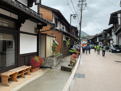 Walking to a lacquerware shop and  demonstration - Kiso Hirasawa, Shiojiri City, Japan.