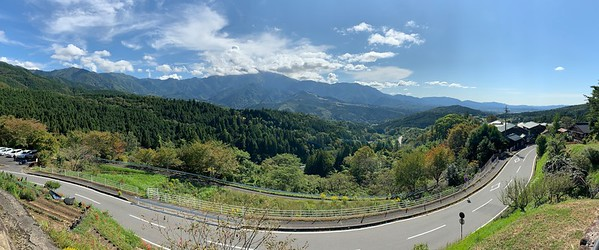 Panoramic view of the Mt. Ena Mountain Range.