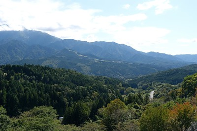 Magome sits high and has wonderful views of the Mt, Ena Mountain Range.