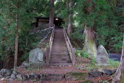 Wandering the longest Post Town in Japan at .6 mile. It ends at the foot of the Torii Pass. Nakasendo Trail, Narai-juku, Siojiri-City, Nagano, Japan.