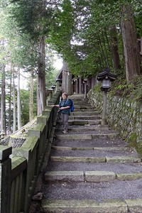 Wonderful stone steps to the shrine.