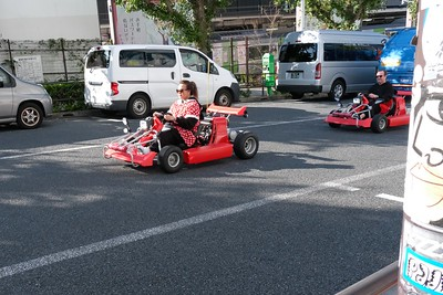 Go carts on the go.