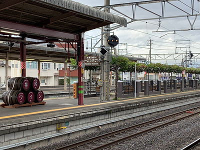 Platform at Shiojiri Station.