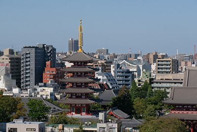 View from the Asakusa Culture Tourist Information Center.