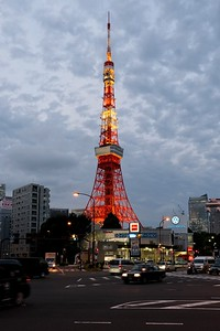 First sighting of the Tokyo Tower.
