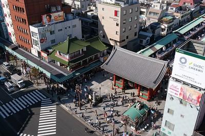 Asakusa Culture Tourist Information Center. Walking the streets of Asakusa, Tokyo, Japan.