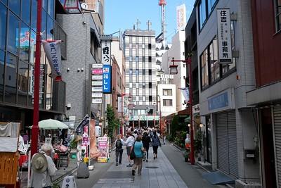 Walking the streets of Asakusa, Tokyo, Japan.