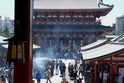 Looking from the Main Temple to the Hozomon Gate.