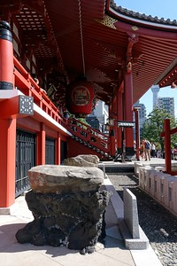 Walking the Senso-ji Temple grounds - Asakusa, Taito City, Japan.