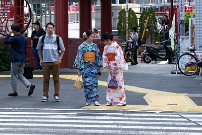Traditional dress...Dressing in Kimonos to visit the Temple.
