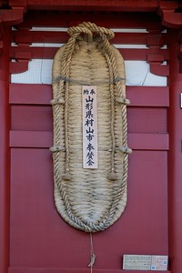 Giant Owaraji sandal symbolizing the power of the Temple's Nio protectors..