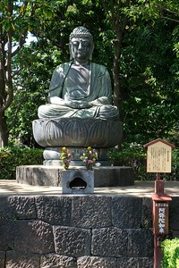 Buddha statue at Senso-ji Temple.