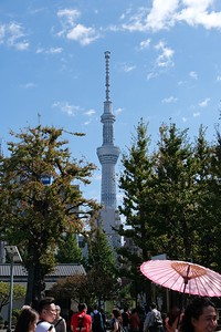 View the Tokyo Sky Tree.