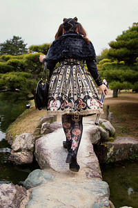 J-Pop dress at Ritsurin Gardens, Takamatsu, Japan
