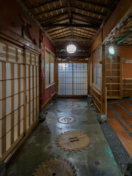 "Hallway outside suite in Kagaguya Hotel, built around 250 years ago, and said to inspire Hayao Miyazaki's masterpiece, ""Spirited Away."""