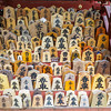 Kitano shrine--close-ups of prayer plaques for a healthy birth and new born child