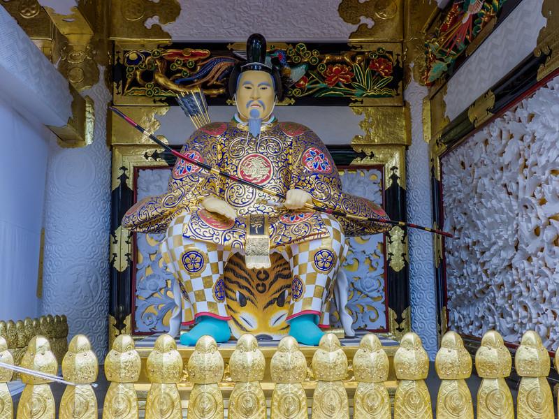 Zuijin guardian statue at the Yomeimon Gate of the  Toshogu Shrine