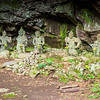Buddhist deities in a cave behind the tomb of Katsuto Dojin