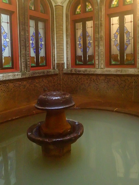 Roman hot springs in hotel