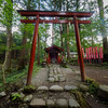 The Tori gate at the Takio Shrine