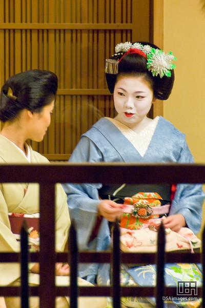 A Geisha at work in Gion, Kyoto