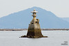 Stone lantern on the way to Itsukushima Shrine by high speed ferry