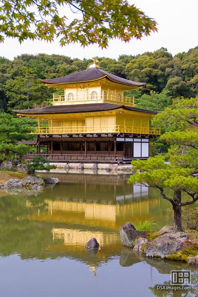 Kinkaku (Goldern Pavilion) at the Rokuon-ji Temple