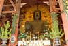 A bronze Buddha (Daibutsu) at the Todaiji Temple, Nara