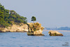 One of the around 300 islands in Matsushima Bay