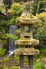 The Kaisekito Pagoda with the Midoritaki Waterfall behind, Kenrokuen Garden
