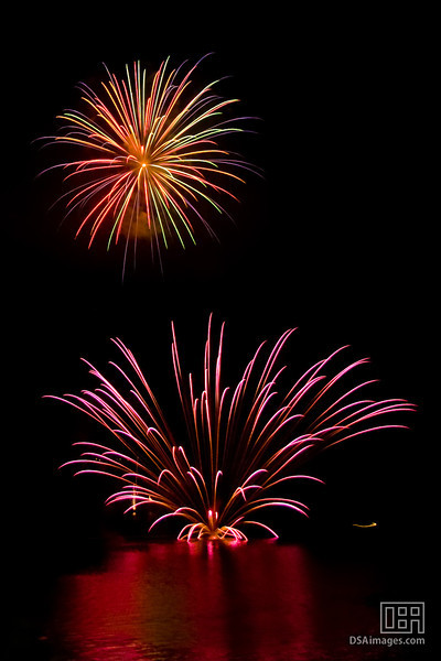 Fireworks on Lake Toya