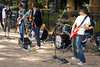 Street performers at the southern end of Yoyogi Park, Tokyo