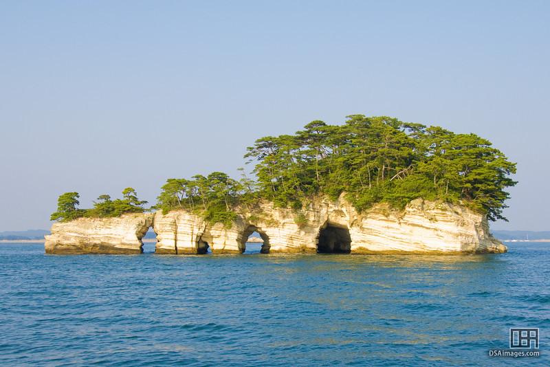 One of the around 300 islands in Matsushima Bay