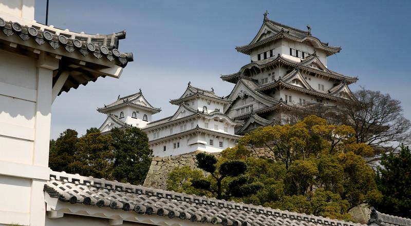 Himeji-jo, or White Heron Castle in April 2012.