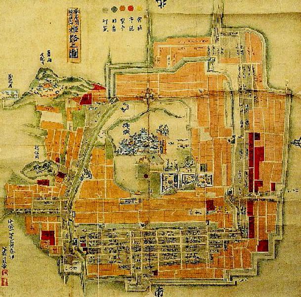 1761 map of Himeji-jo.