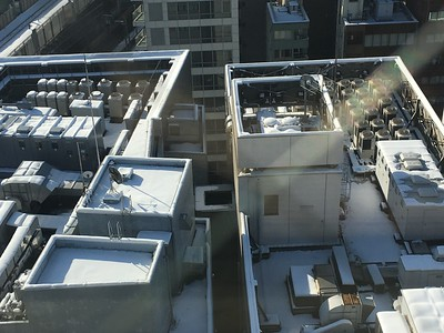 Snow on rooftops of Akiba