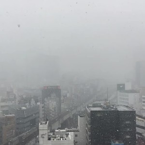 Snow in Akihabara ~ View from Via Inn