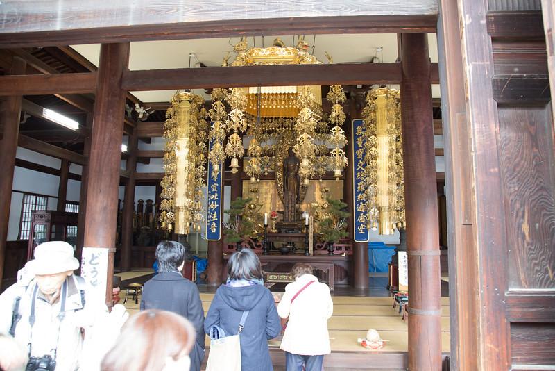Shrine in Chion-ji temple.