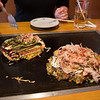 Okonomiyaki is so yummy.