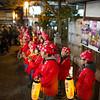 Kids performing, Higashiyama streets lit up at night for Hanatoru