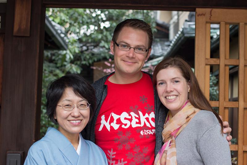 Our Lovely host at Hiiragiya Bekkan Ryokan