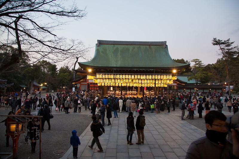 Performance at Yasaka Shrine