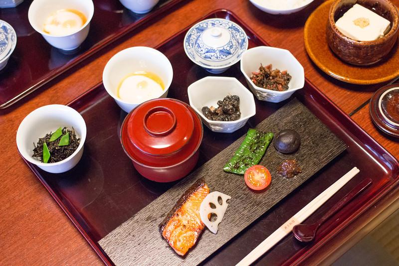 Breakfast at Hiiragiya Bekkan Ryokan