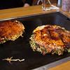 Okonomiyaki is so yummy.