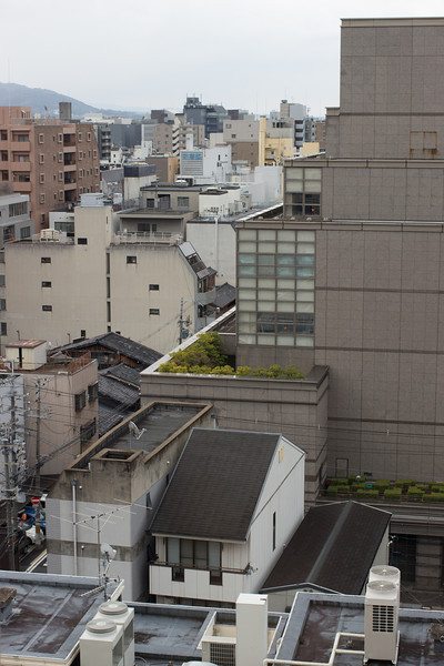 Hotel Gimmond, View from our hotel in Kyoto