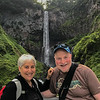 Niki and Gary enjoying a dry day at water falls