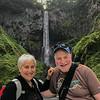 Niki and Gary enjoying a dry day at water falls